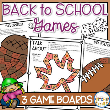 Back to School Board Games (Team Building and Getting to Know You)
