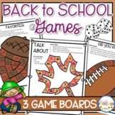 Back to School Board Games (Team Building and Getting to K