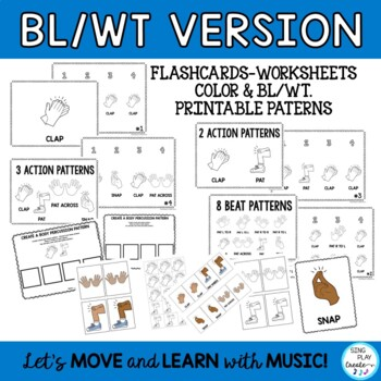 "Music Class Body Percussion Lessons and Activities ""Clap-Pat-Snap"" K-6"
