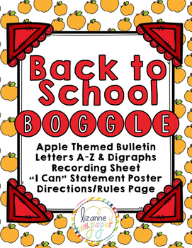 Back to School Boggle