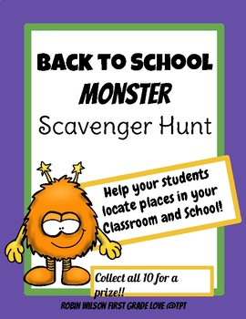 Back to School Scavenger Hunt with Monsters!