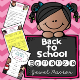 First Day of School Activities BUNDLE (Memory Book, Games