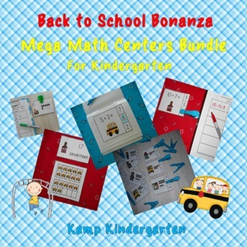 Back to School Bonanza Mega Math Centers Bundle for Kindergarten
