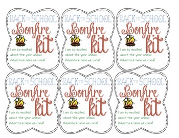 Back to School Bonfire Kit! Student treat for camping classroom theme!!!