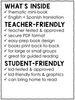 Mini Book - Back to School Activity
