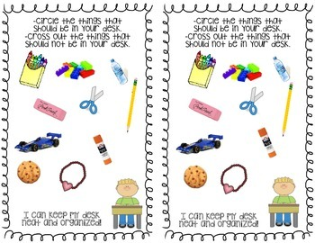 Back to School Workbook: 8 pages of interactive practice!