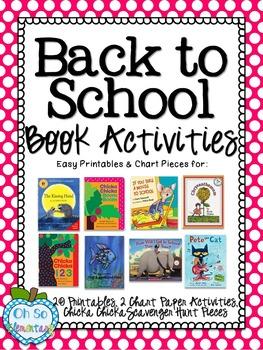Back to School Book Activities