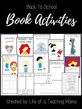 Back to School Book Activities (Recess Queen, Do Unto Otters, Decibella, & More)
