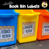 Back to School Book Bin Labels for Classroom Library
