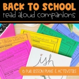 Back to School Book Companions - Distance Learning