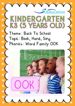 Back to School - Book, Hand, Sing (I): Word Family OOK - K3 (age 5)