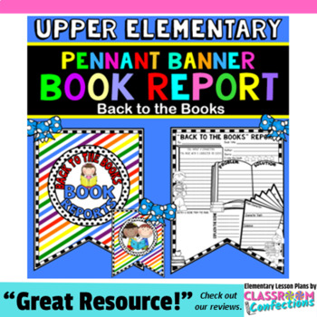 Back to School Activity: Book Report Template: \