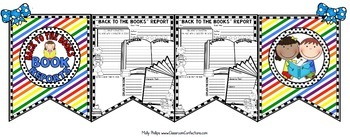 """Back to School Activity: Book Report Template: """"Back to the Books"""" Theme"""