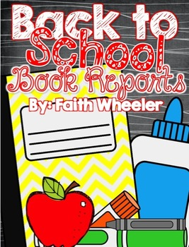 Back to School Book Reports