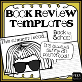 Summer Reading Review Template   Back to School Project   Summarize   Recount