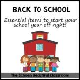 Back to School Documents - My Teacher Book Sack