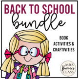 Back to School Book Study Bundle   Book Studies, Craftivit