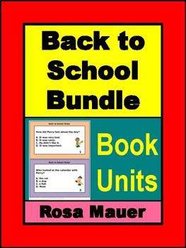 Back to School Book Unit Bundle