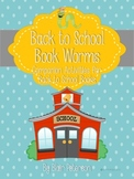 Back to School Book Worms: Companion Activities for Back to School Books