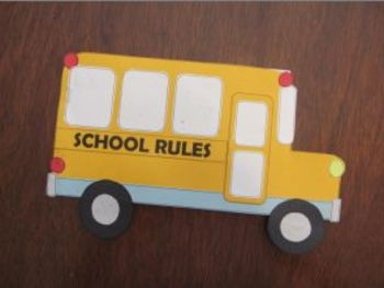 Back to School Book - includes math activity and classroom rules poster