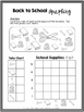 Back to School Booklet- 1st and 2nd Grade