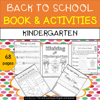Back to School Booklet & Activities for Kindergarten
