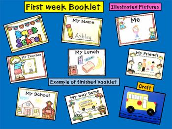 Back to School Booklet and Bus Craft ( Kindergarten)