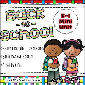 Back to School K-1 Mini Unit