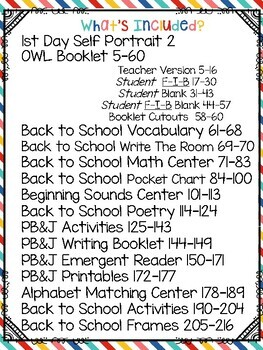 Back To School Literacy Math and Science Activities