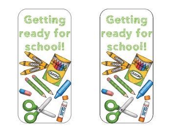 Back to School Bookmarks #2 - School Supplies Edition