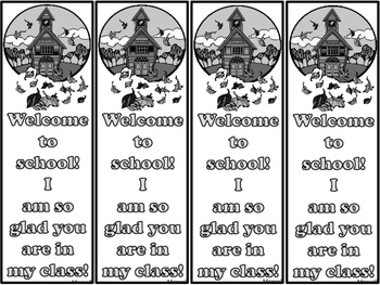 Free Back to School Bookmarks