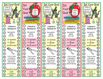 """Back to School """"Set Your Own Reading Goal"""" Bookmarks"""