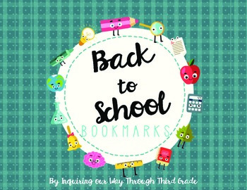 Back to School Bookmarks {FREEBIE!}