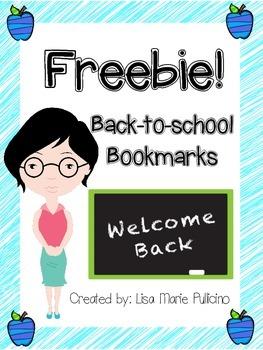 Back-to-School Bookmarks (Freebie!)