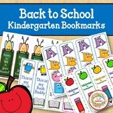 Back to School Bookmarks Kindergarten