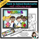 Back to School Bookmarks and Coloring Page Freebie