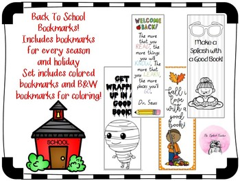 Back to School Bookmarks for Every Season