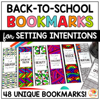 Back to School Bookmarks for Setting Intentions - Zen Doodle Designs