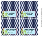 Back to School Bookworm Reading Treat Bag Toppers