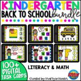 Back to School Activities Kindergarten Boom Cards