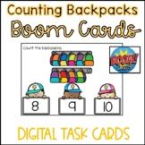Back to School Boom Cards- Counting Backpacks