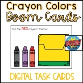 Back to School Boom Cards- Crayon Colors