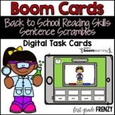 Back to School Boom Cards Sentence Scramble