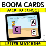Back to School Boom Cards : Uppercase Letter Matching