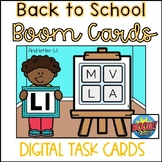 Back to School Boom Cards- Uppercase Letters