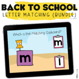 Back to School Boom Cards : Uppercase and Lowercase Letter