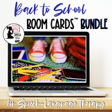 Back to School Boom Cards™ for Speech-Language Therapy BUNDLE Distance Learning