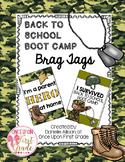 Back to School Boot Camp Brag Tags FREEBIE