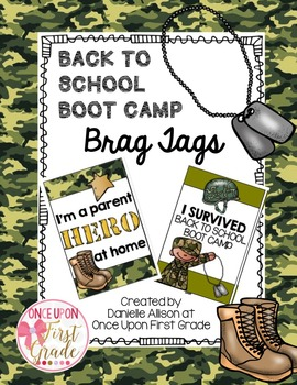 Back to School Boot Camp Brag Tags FREEBIE