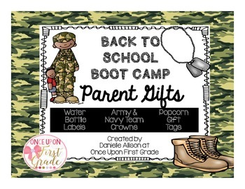 Back to School Boot Camp Parent Gifts Pack